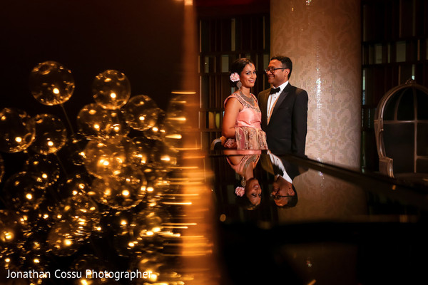 indian bride and groom,indian wedding reception,indian fusion wedding reception