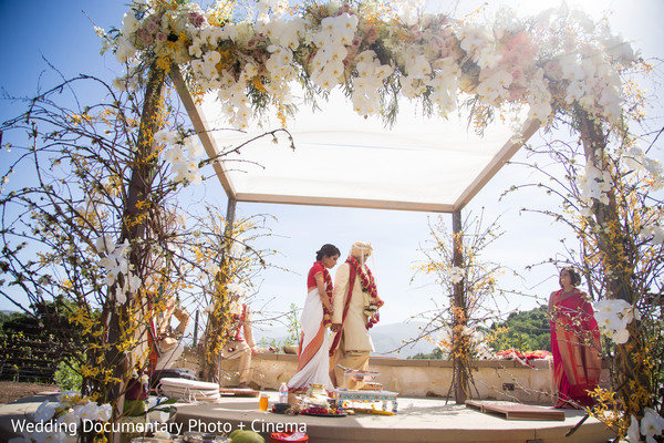 outdoor indian wedding,seven steps,indian wedding