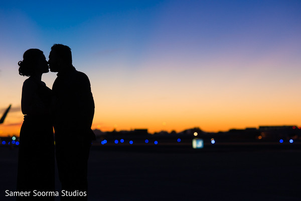 Beautiful sunset for engagement photoshoot