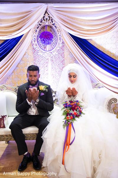 Wedding praying moments