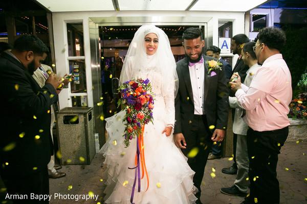 indian fusion wedding,muslim bride fashion
