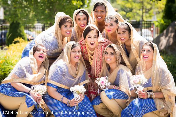 indian bridesmaids,indian weddings,sikh bride
