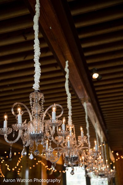 Gorgeous hanging chandeliers