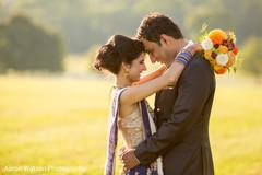 newlyweds,indian wedding couple,indian fusion wedding reception