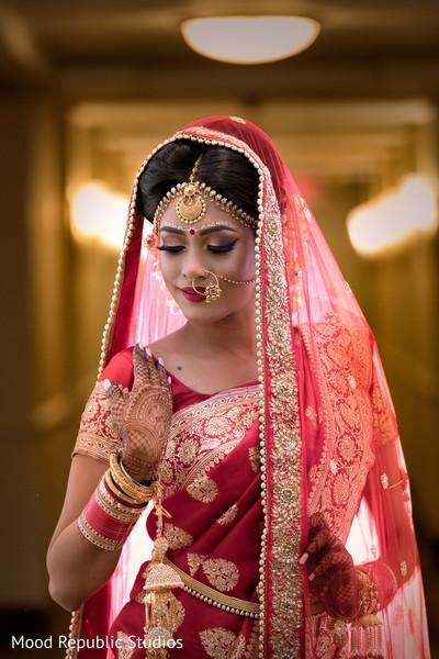 Bengali bride wedding style.