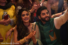 sangeet indian bride and groom,indian pre-wedding celebrations