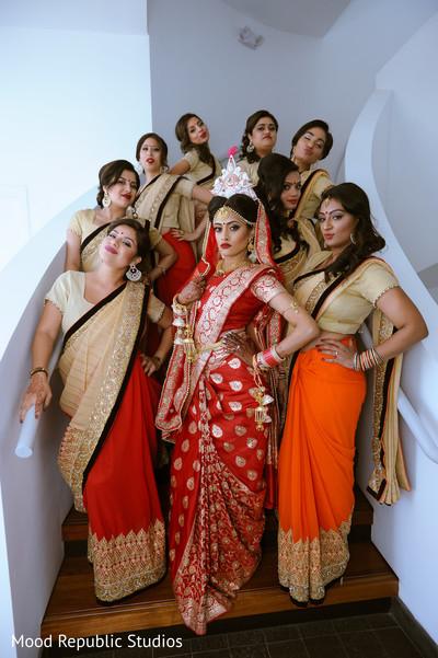 Bengali bridal party.