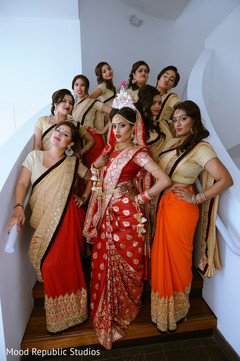 indian bride,bengali bride,indian bridesmaids