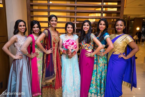 Maharani with bridal party