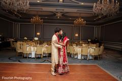 Stunning indian couple wedding reception photo shoot