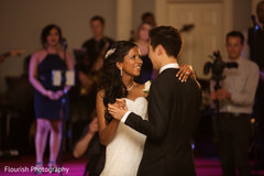newlyweds,indian bride and groom first dance