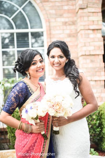 Mesmerizing indian bride and bridesmaids.