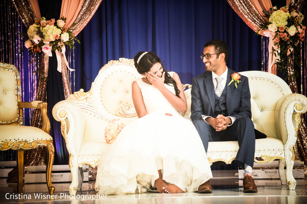 indian wedding photography,indian wedding reception,stage,indian bride and groom
