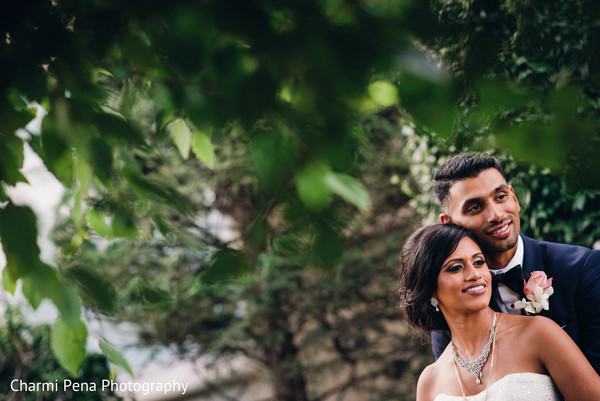 outdoor photography,indian bride and groom,boutonniere