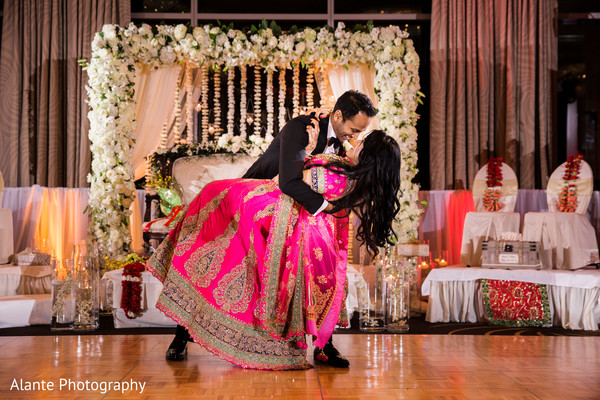indian bride and groom first dance,indian wedding reception,indian fusion wedding reception