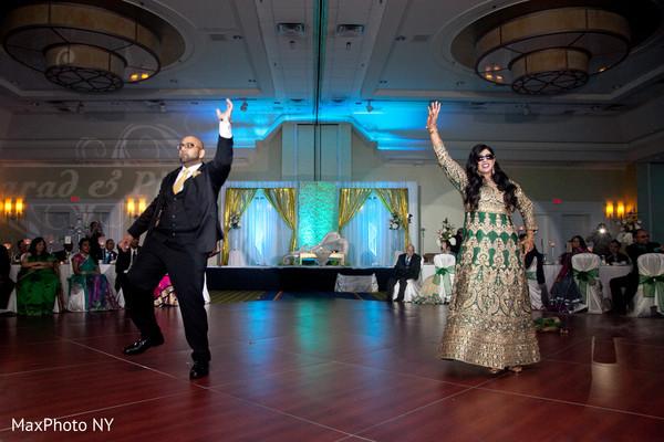 indian fusion wedding reception,indian bride and groom first dance,indian wedding reception