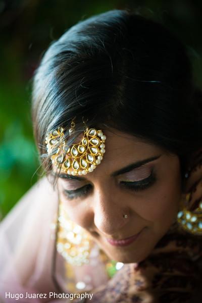 indian bride,bridal tikka,indian bride hair and makeup