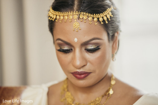 Indian bride before wedding ceremony started