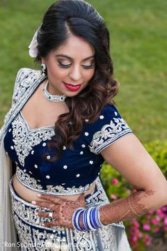 indian bride,indian wedding portrait,indian fusion wedding reception