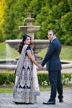 indian bride,indian groom,indian fusion wedding reception