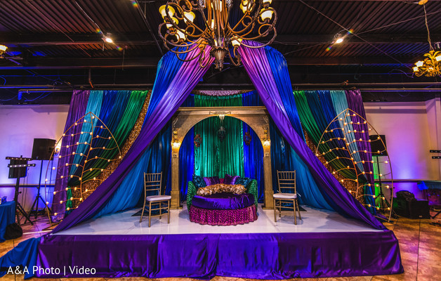 pithi night decor,indian wedding mehndi