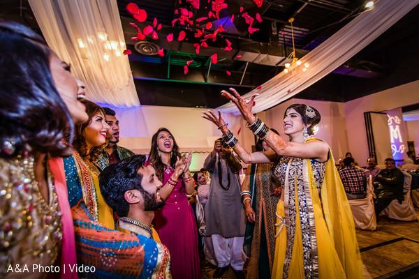 indian wedding lengha,yellow and blue lengha,indian bridal fashions