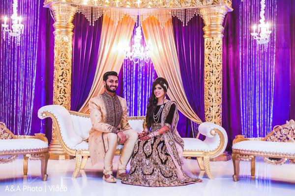 indian wedding lengha,black and gold lengha