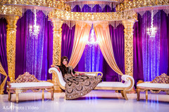 Maharani in wedding reception stage