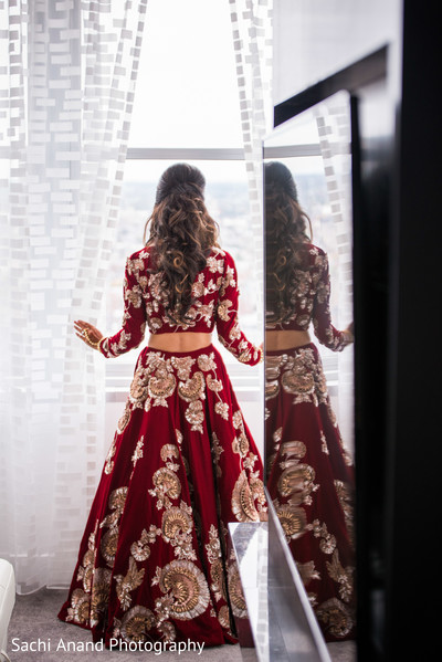 indian bride,indian bride getting ready,indian bride hair and makeup