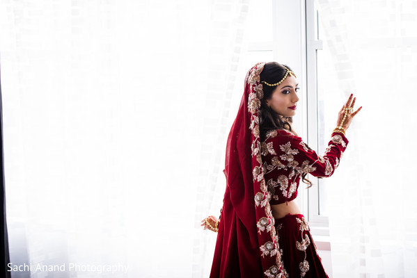 indian bride,indian bride getting ready,indian bridal lengha