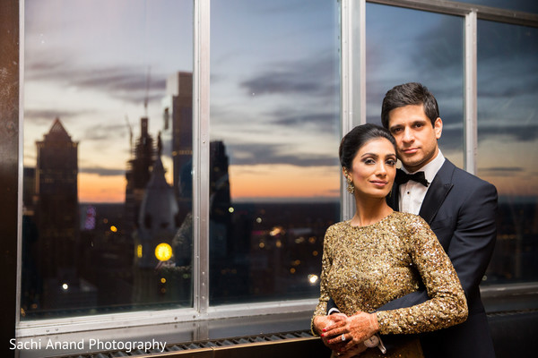 indian bride,indian groom,indian fusion wedding reception,indian wedding portrait