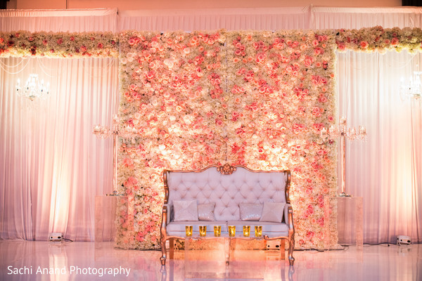 indian wedding floral and decor,indian wedding reception,indian wedding planning and design,reception stage