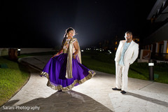 Indian couple outdoor photography before sangeet ceremony