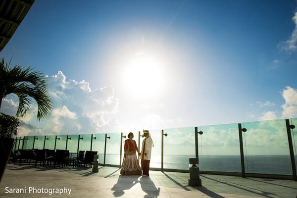 indian bridal lengha,indian groom sherwani,outdoor photography