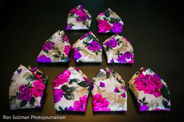 Flower pattern pocket square