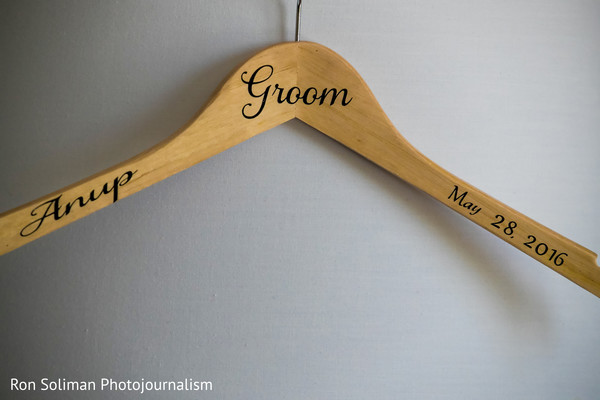 Groom's personalized hanger