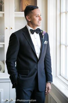 indian groom fashion,black tuxedo