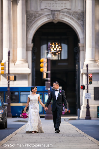 In the city wedding photography