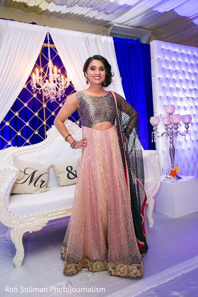 Beautiful sparkly bridal saree