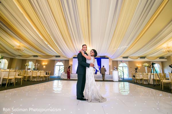 Lovely couple in the dance floor