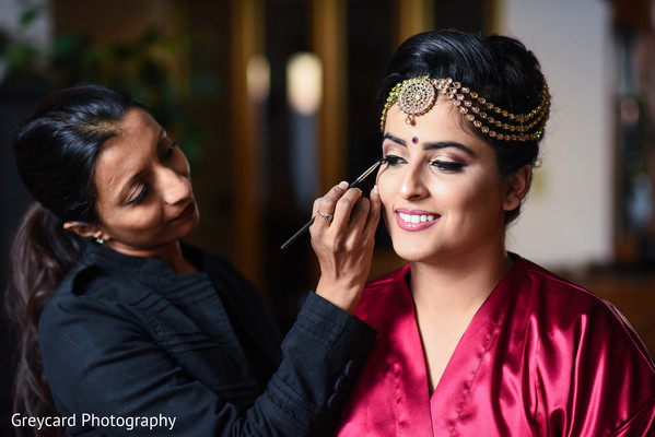 indian bride,indian bride hair and makeup,indian bride getting ready