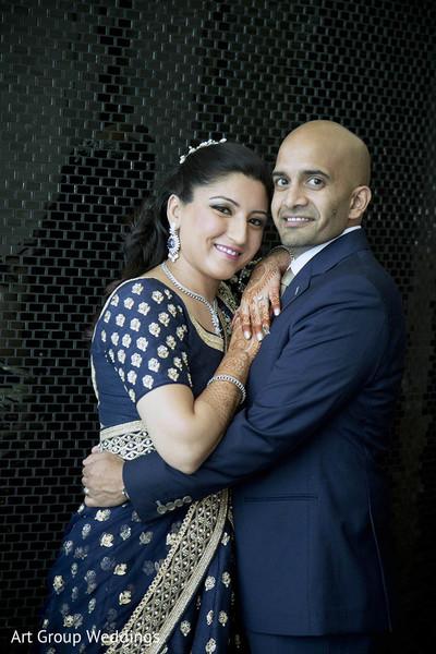 indian newlyweds,newlyweds,indian fusion wedding reception