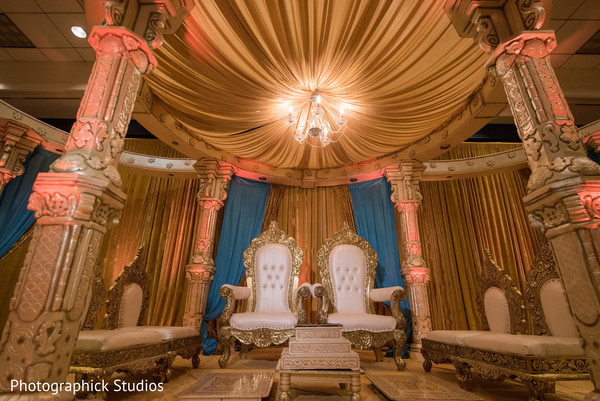 Showstopping  indian mandap. in Virginia Fusion Wedding by Photographick Studios