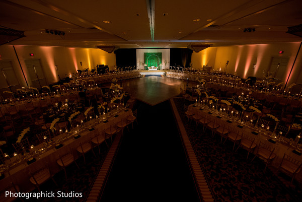 Reception table set up. in Virginia Fusion Wedding by Photographick Studios