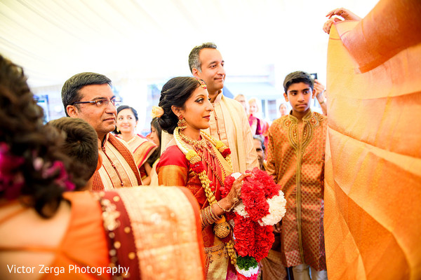 First look capture. in Kirkland, WA Indian Wedding by Victor Zerga Photography