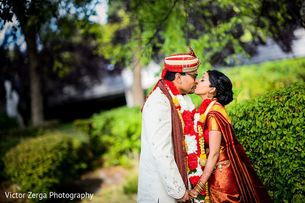 Maharani and Maharaja wedding portrait. in Kirkland, WA Indian Wedding by Victor Zerga Photography