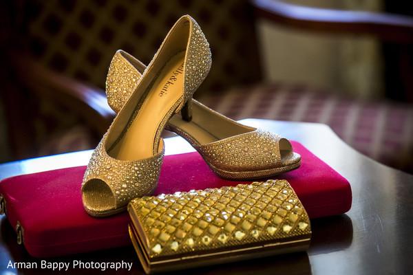 Bridal heels and purse
