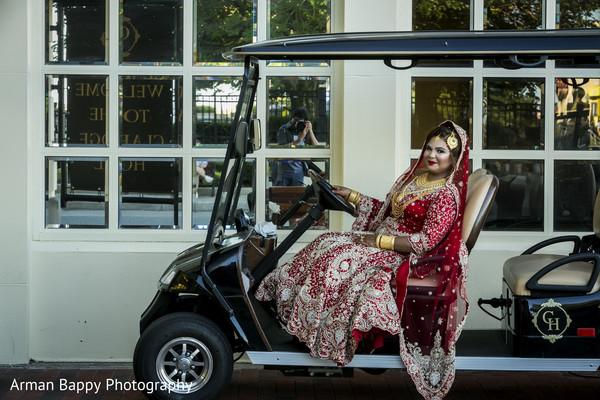 Maharani in golf car