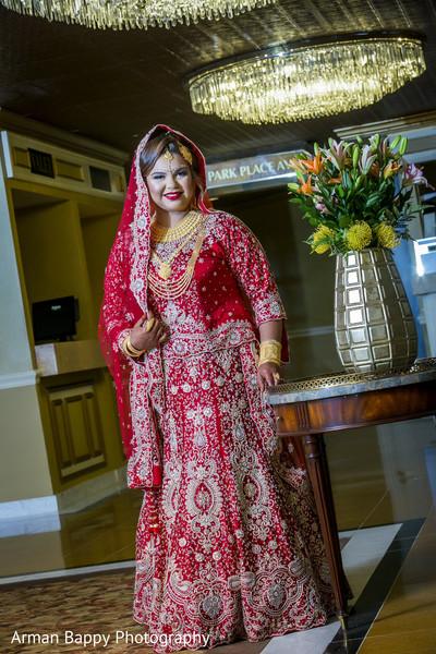 Perfect red bridal lengha