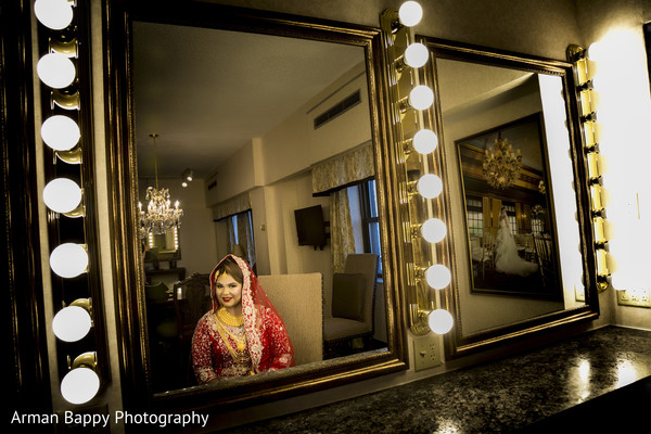 Bengali bride getting ready